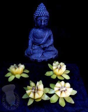 Recette Fleur de lotus en kiwi