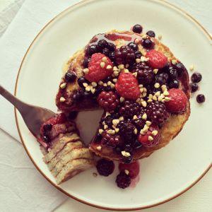 Recette Pancakes banane & chia sans gluten