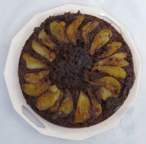 Recette Gâteau renversé poire chocolat
