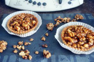 Recette Du jour: Tartelette aux noix et caramel beurre salé  au thermomix de Vorwerk