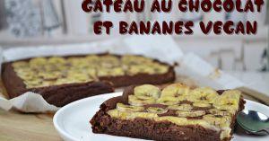 Recette Gâteau au chocolat et bananes vegan