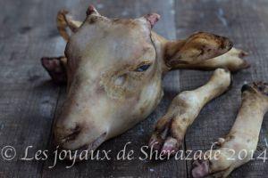 Recette Comment nettoyer la tête et les pieds de mouton ( bouzelouf )