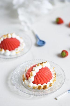 Recette Bombe Alaska à la fraise