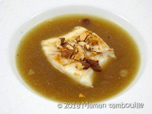 Recette Cabillaud en bouillon de champignon
