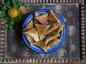 Recette Samoussas de foie gras aux dattes, gingembre et citron confit
