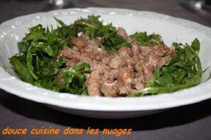 Recette Salade de Pissenlit et Dés d'Agneau Presto
