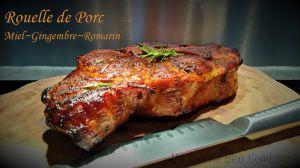 Recette Rouelle de Porc au four~Miel~Gingembre~Romarin