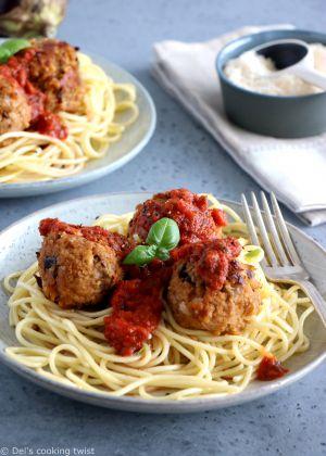 Recette Boulettes d'aubergines végétariennes et spaghettis de kamut®