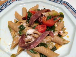 Recette Pâtes sauce poireaux et anchois