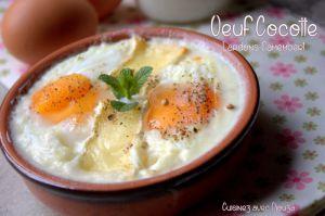Recette Oeuf cocotte lardons camembert