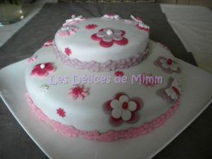 Recette Gâteau fleuri (pâte à sucre)