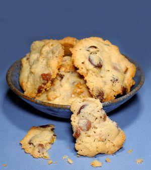 Recette Cookies new yorkais aux 2 chocolats et noix