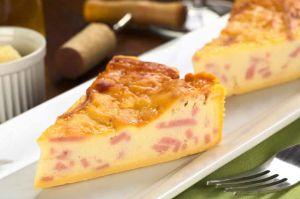 Recette Quiche léger au jambon et fromage
