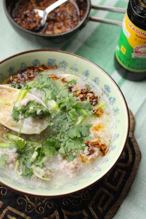 Recette Porridge de riz aux boulettes de porc comme au Laos