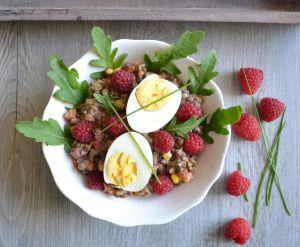 Recette Salade de lentilles 3 couleurs aux légumes et framboises
