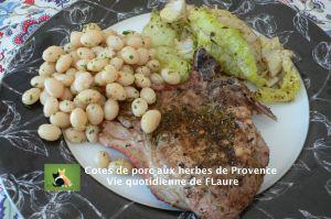 Recette Cotes de porc aux herbes de Provence