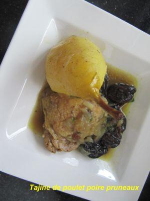 Recette Tajine poires poulet pruneaux et un metier sympa pour vous amoureux de cuisine