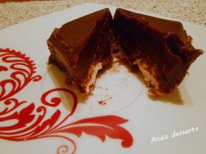 Recette Fudge marbré au chocolat, cerises et chamallow