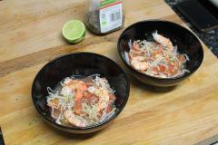 Recette Salade gambas, pamplemousse et graines de chia