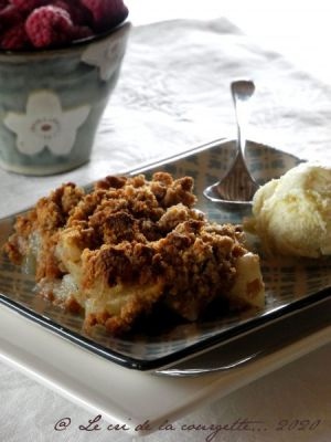 Recette Crumble aux poires, vanille et châtaigne