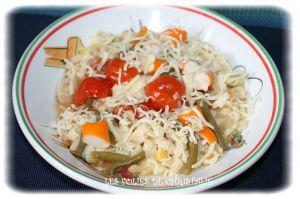 Recette One pot pasta tomates surimi