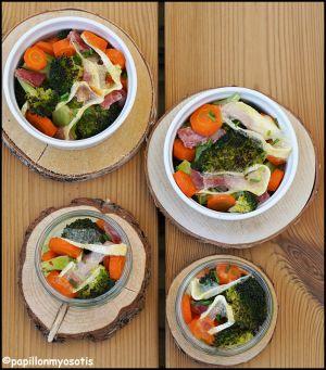 Recette Gratin de legumes au jambon & reblochon [#faitmaison #recette #fromage #lecampanier #bio]