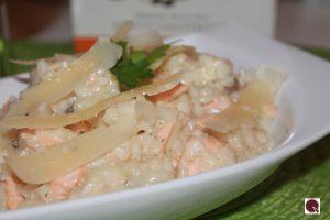 Recette Risotto au saumon