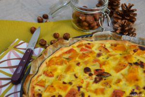 Recette Tarte potimarron champignon parmesan