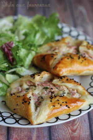 Recette Feuilletés jambon & fromage
