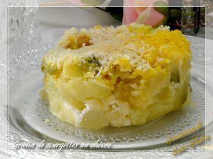 Recette Gratin de courgettes au chèvre et polenta (sans oeuf)