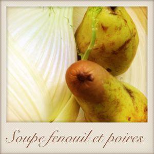 Recette Soupe fenouil et poires