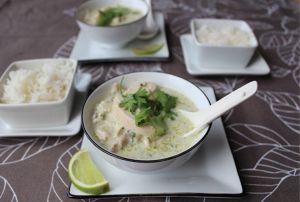 Recette Poulet, deux plats : curry vert au poulet