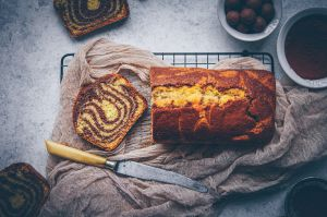 Recette Cake zébré à l'amande & chocolat