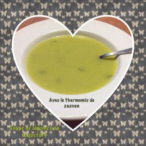 Recette Soupe courgette et citrouille au roquefort thermomix ou sans