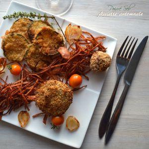 Recette Assiette automnale de petites garnitures frits et pommes paille Lily Rose