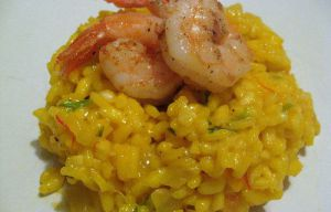 Recette Risotto de crevettes au curry