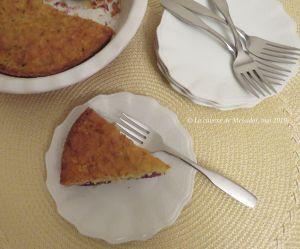 Recette Tarte sans croûte à la courgette et aux mûres +