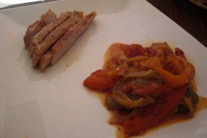Recette Rouelle de Porc et Peperonata
