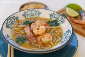 Recette Soupe thaï crevettes - gingembre