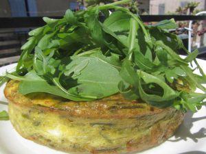Recette Frittata d'asperges sauvages au chèvre frais