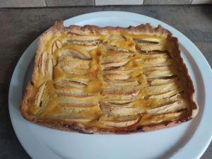 Recette Tarte normande aux pommes avec le cake factory (et ccpro)