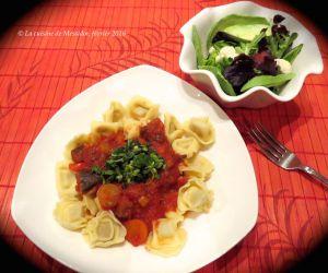 Recette Sauce tomate à l'aubergine sur pâtes courtes