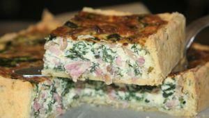 Recette Tarte champignons - lard - epinards