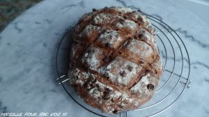Recette *Pain le Charleston aux pommes, amandes et noisettes Ig bas ( farine Fiberpasta, intégrale T150, son d'avoine)