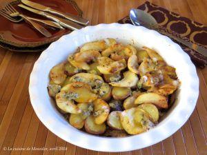 Recette Casserole de canard confit aux pommes et au bleu +