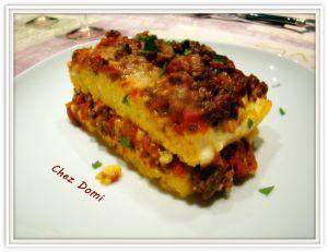 Recette Lasagnes de polenta