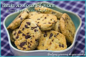 Recette Biscuits flocons d'avoine et chocolat