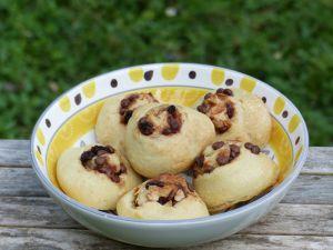 Recette Petits pains chocolat-raisins