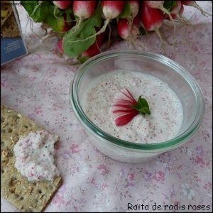 Recette Raïta de radis roses