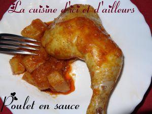 Recette S cuisses de poulet en sauce